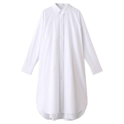 beautiful people ビューティフルピープル コットンタイプライターレイヤードシャツドレス レディース オフホワイト 38
