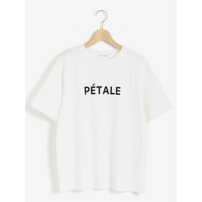 le.coeur blanc PETALEロゴプリントTシャツ(ホワイト)