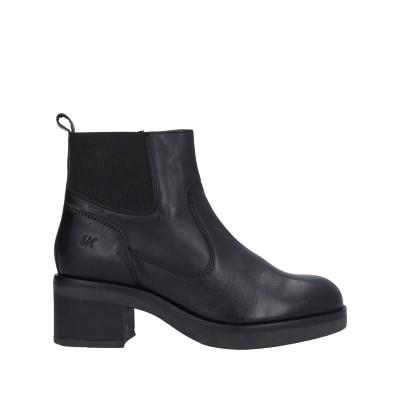 LUMBERJACK ショートブーツ ブラック 35 革 / 紡績繊維 ショートブーツ