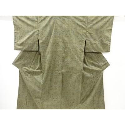 リサイクル 抽象模様織り出し本場泥大島紬着物(5マルキ)