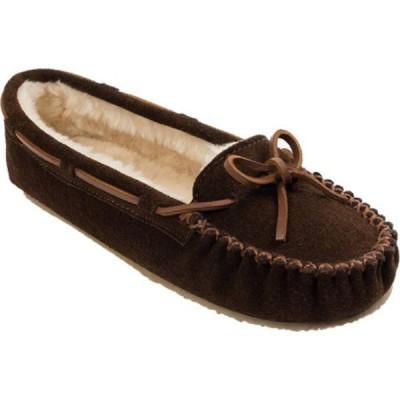 ミネトンカ Minnetonka レディース スリッパ シューズ・靴 Cally Slipper Chocolate Suede