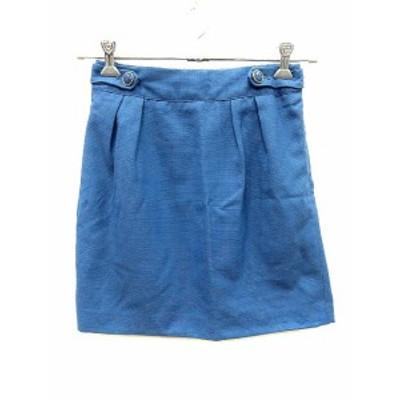 【中古】ロペピクニック ROPE Picnic スカート 台形 ミニ 総柄 38 青 ブルー /AU レディース