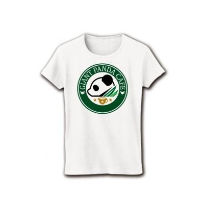 ジャイアントパンダ・カフェ リブクルーネックTシャツ(ホワイト)