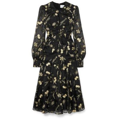 アーデム ERDEM 7分丈ワンピース・ドレス ブラック 8 シルク 100% 7分丈ワンピース・ドレス
