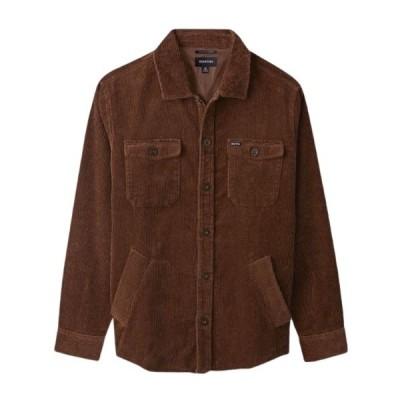 Brixton Durham L/S Flannel Shirt Washed Brown Corduroy S ネルシャツ 送料無料