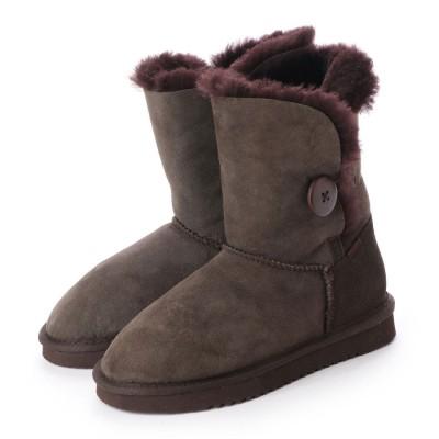 シューズラウンジ アウトレット shoes lounge OUTLET ショートブーツ 258014DBR (ブラウン)