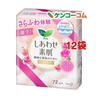 ロリエ しあわせ素肌 パンティライナー ピュアフローラルの香り ( 72個入*12袋セット )/ ロリエ