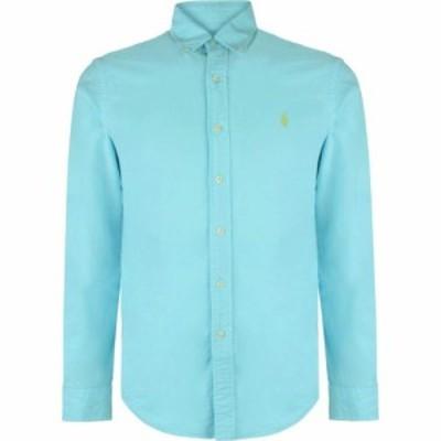 ラルフ ローレン Polo Ralph Lauren メンズ シャツ トップス Slim Fit Garment Dyed Shirt Hammond Blue