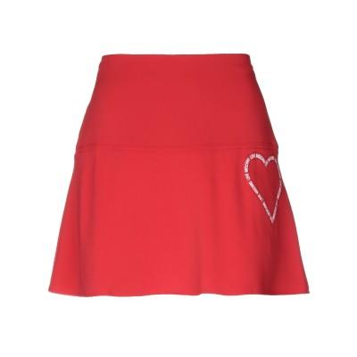 ラブ モスキーノ LOVE MOSCHINO ミニスカート レッド 40 ポリエステル 60% / レーヨン 35% / ポリウレタン 5% ミニス
