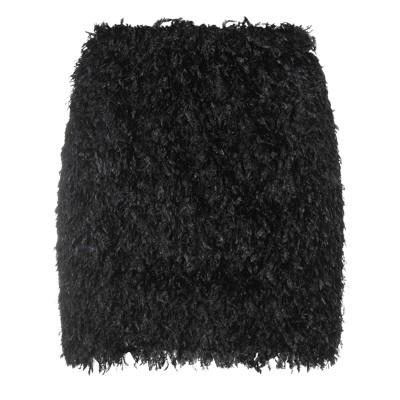 LE VOLIÈRE ミニスカート ブラック M/L ポリエステル 100% ミニスカート