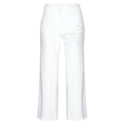 メッサジェリエ MESSAGERIE パンツ ホワイト 44 コットン 73% / ポリエステル 24% / ポリウレタン 3% パンツ