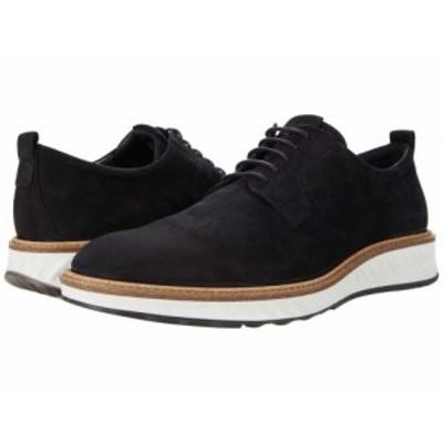 ECCO エコー メンズ 男性用 シューズ 靴 オックスフォード 紳士靴 通勤靴 ST.1 Hybrid Plain Toe 2.0 Black Cow Nubuck【送料無料】