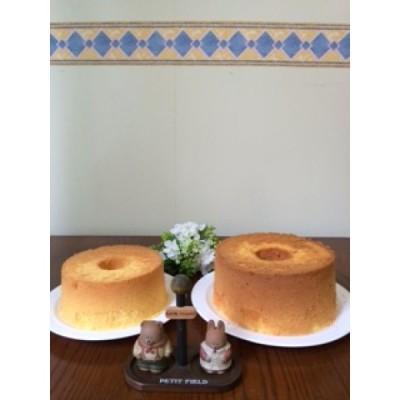 シフォンケーキ ぽんかん ほんのり甘いぽんかんジャムが力を発揮しています。 直径19cm