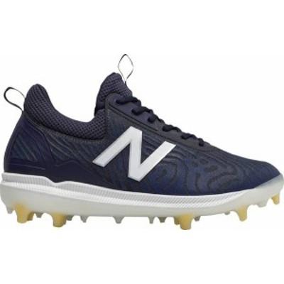 ニューバランス メンズ スニーカー シューズ New Balance Men's COMPV2 Baseball Cleats Navy/White