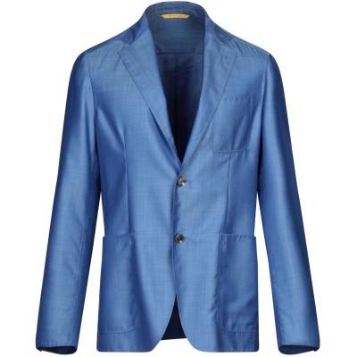 カナーリ CANALI テーラードジャケット ブルー 50 スーパー160 ウール 85% / シルク 15% テーラードジャケット
