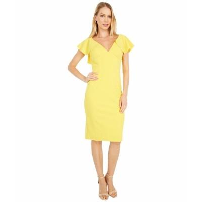 マリーナ ワンピース トップス レディース Stretch Crepe Dress Yellow