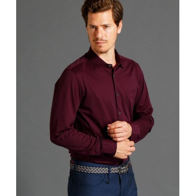 (MONSIEUR NICOLE/ムッシュニコル)ショートセミワイドカラーニットシャツ/メンズ 67ネイビー