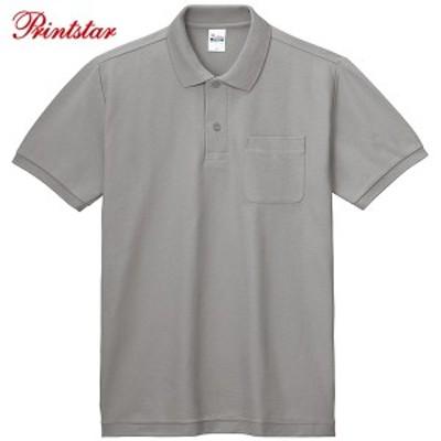 ポロシャツ メンズ レディース 半袖 無地 ポケット付