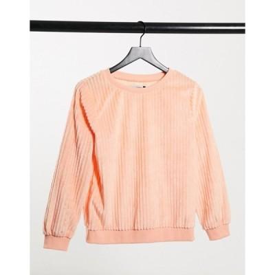 ストリート コレクティブ レディース シャツ トップス Street Collective oversized cord sweater in peach