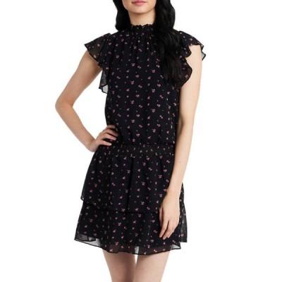 ワンステート レディース ワンピース トップス Women's Short Sleeve Smocked Waist Layer Dress