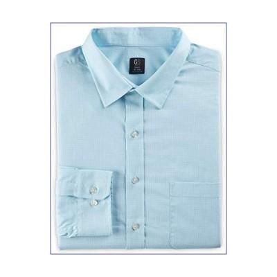 "【新品】DXL Gold Series Big and Tall Easy-Stretch Small Check Dress Shirt, Light Blue, 19"" Neck 37/38"" Sleeve(並行輸入品)"