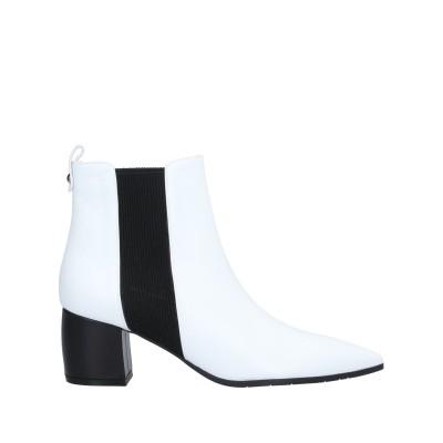 GRANDINETTI ショートブーツ ホワイト 39 牛革(カーフ) / 指定外繊維(その他伸縮性繊維) ショートブーツ