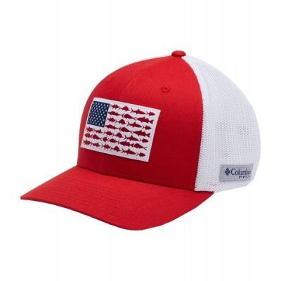 コロンビア Columbia メンズ 帽子 Mesh Fish Flag Cap Red Spark/White/Us Fish