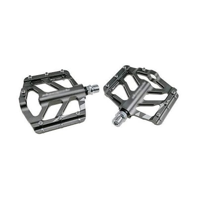 Aluminum Cycling Bike Pedals, 9/16 Inch Bicycle Pedals Bike for Road Mountain MTB Bike, Lightweight Stable Anti-Slip,Chrome_並行輸入品