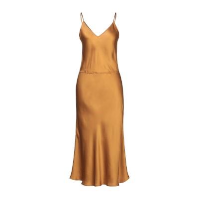 MES DEMOISELLES ロングワンピース&ドレス カーキ 36 シルク 100% ロングワンピース&ドレス