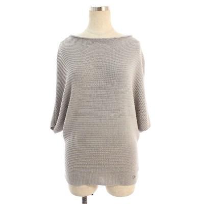 ルネ ニット セーター ボードネック 半袖 36