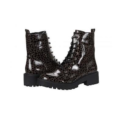 GUESS ゲス レディース 女性用 シューズ 靴 ブーツ レースアップ 編み上げ Upon - Black Floral 1