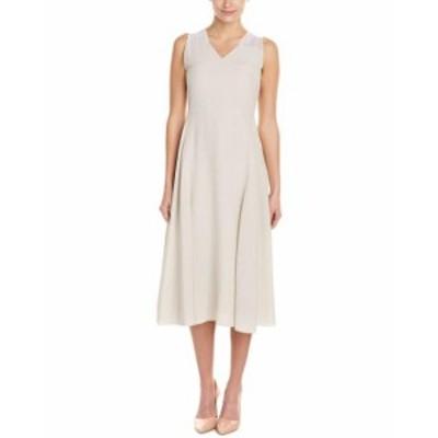 ファッション ドレス Piazza Sempione Silk A-Line Dress 38 Grey