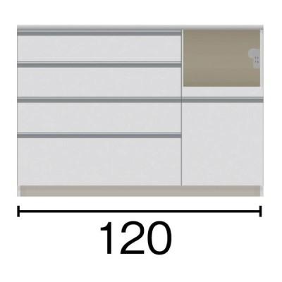 家具 収納 キッチン収納 食器棚 ダイニングボード サイズが豊富な高機能シリーズ カウンター家電収納 幅120奥行45高さ84.8cm 568954