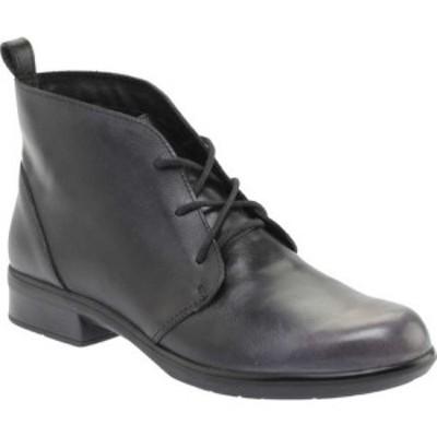 ナオト Naot レディース ブーツ ショートブーツ レースアップブーツ シューズ・靴 Levanto Lace Up Ankle Boot Gray Black Handcrafted L