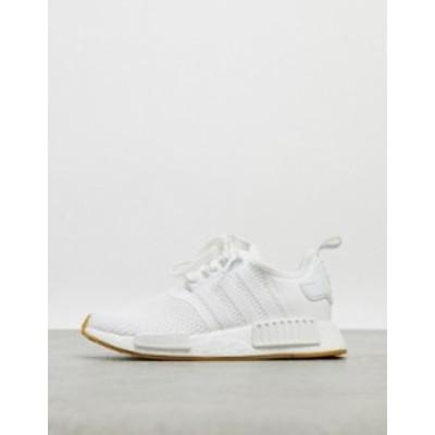 アディダス レディース スニーカー シューズ adidas Originals NMD sneakers in triple white White