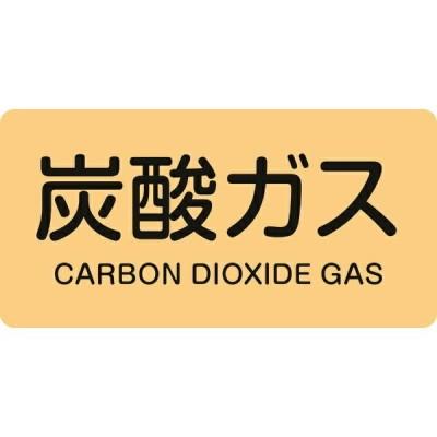 配管識別ステッカー 炭酸ガス 40×80mm 10枚組 アルミ 英文字入 382710 日本緑十字
