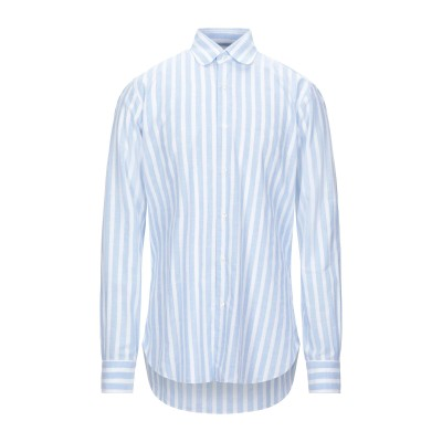 BARBA Napoli シャツ スカイブルー 41 コットン 100% シャツ