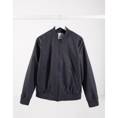 トップマン メンズ ジャケット・ブルゾン アウター Topman bomber jacket in gray Gray
