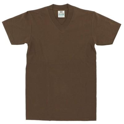 バックヤードファミリー BACKYARD FAMILY PRO CLUB プロクラブ 106 Vネック コンフォート Tシャツ (ブラウン)