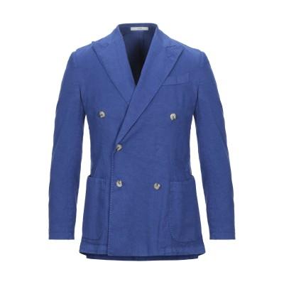 0909 FATTO IN ITALIA テーラードジャケット ブルー 50 リネン 64% / コットン 34% / ポリウレタン 2% テーラー