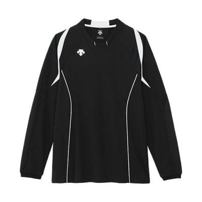 デサント(DESCENTE) メンズ レディース バレーボールウェア 長袖 ライトゲームシャツ ブラック/ホワイト DSS5510 BWH トップス 練習 クラブ 部活 移動着