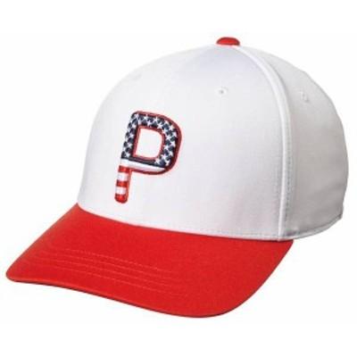 プーマ メンズ 帽子 アクセサリー PUMA Men's 2020 P110 Stars & Stripes Golf Hat White