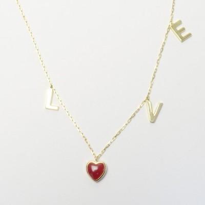 LOVE ネックレス K18 イエローゴールド