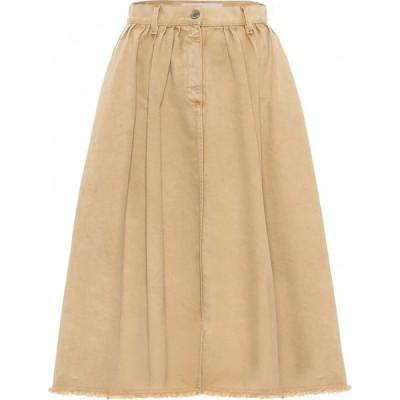 ゴールデン グース Golden Goose レディース ひざ丈スカート デニム スカート adele denim midi skirt Light Biscuit