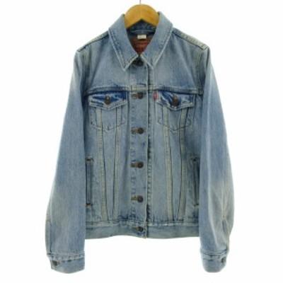 【中古】リーバイス Levi's ジャケット デニムジャケット Gジャン 長袖 ブルー 青 S レディース