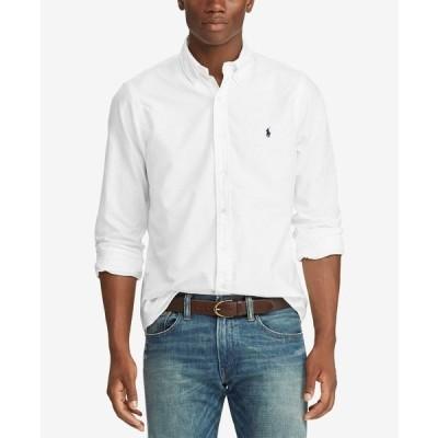 ラルフローレン シャツ トップス メンズ Men's Classic-Fit Garment-Dyed Oxford Shirt White