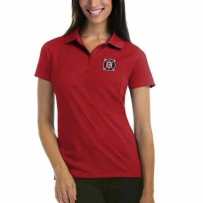 Antigua アンティグア スポーツ用品  Antigua Chicago Fire Womens Red Pique Desert Dry Xtra-Lite Polo
