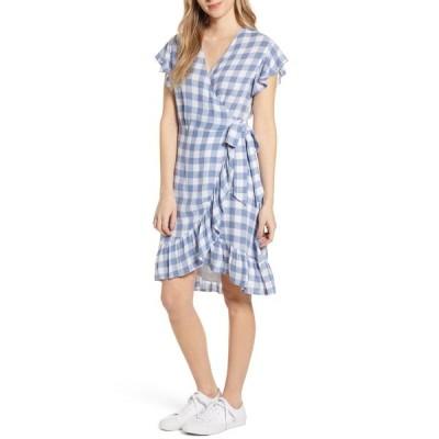 レイルズ レディース ワンピース トップス Brigitte Wrap Dress PERIWINKLE CHECK