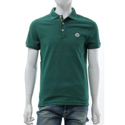 モンクレール ポロシャツ 半袖 メンズ 8A70700 84556 グリーン MONCLER 2021年秋冬新作