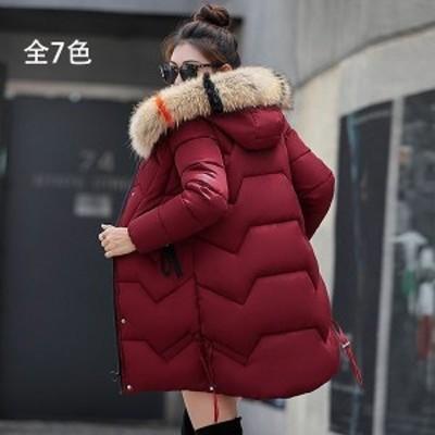 中綿ダウンコート レディース LKSDY29526 40代 ロング丈 軽い 2019 秋冬 アウター 中綿コート 中綿ジャケット ダウン風コート フー